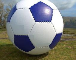3D asset Soccer ball scratched PBR