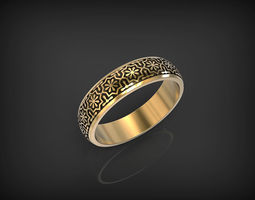 Ring with Ornament 3D print model