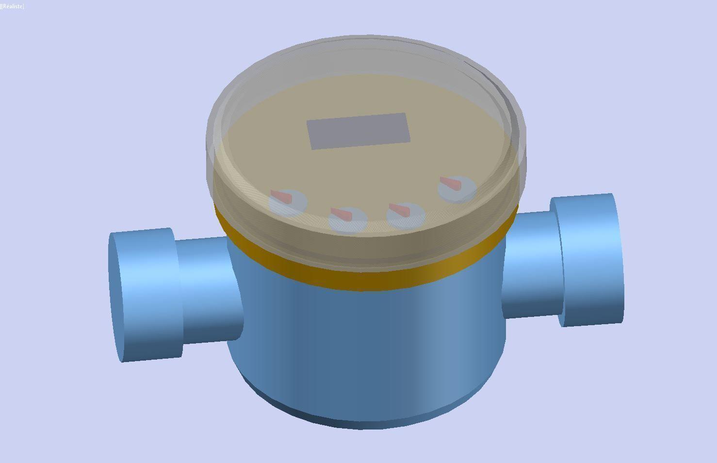 Water meter LRI DN25 55026B | 3D model