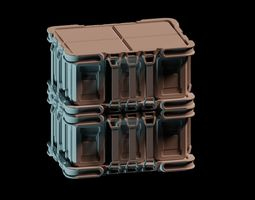 3D asset Science fiction military Crate