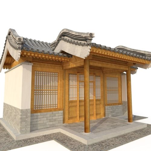 3d ancient chinese architecture distribution room 05 model 3d model low-poly max obj mtl 3ds fbx 1