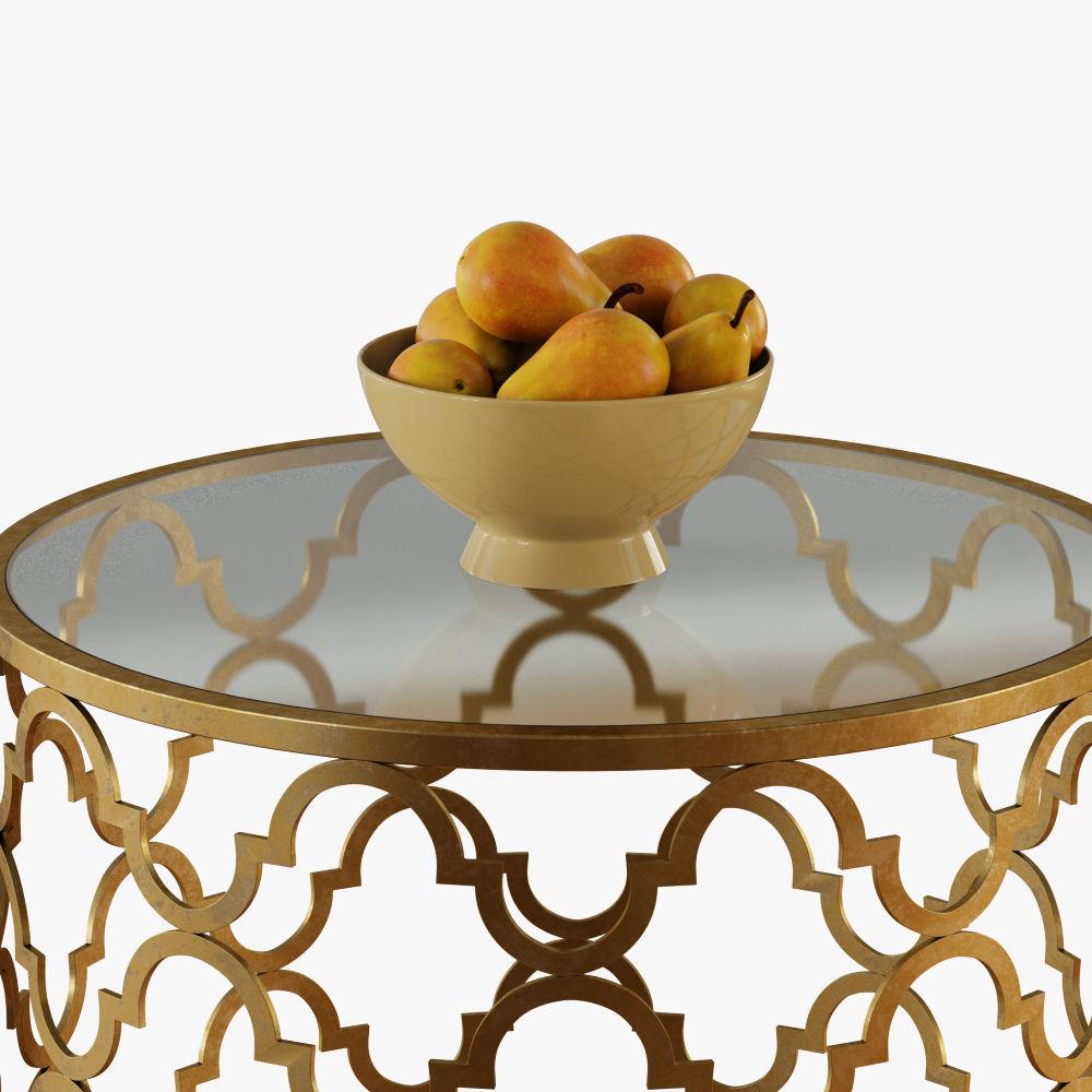 Round Moroccan Side Table Model Max Obj Mtl Fbx 4