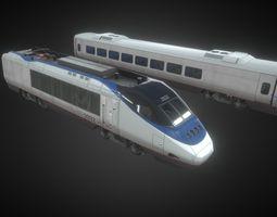 Super Low Poly High Speed Super Train 3D asset