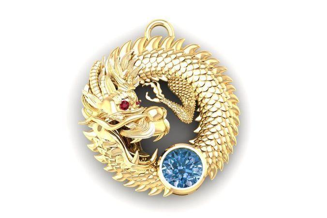 567 lucky dragon pendant  3d model stl 3dm 1