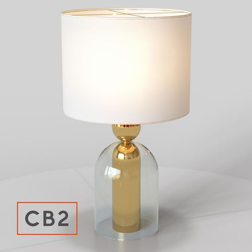 Cb2 Bell Jar Table Lamp 3d Model Max Fbx