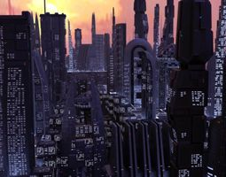 3D model 17 Sci-Fi Buildings
