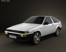 3d model toyota sprinter trueno ae86 3-door 1985