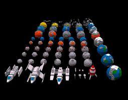 3D asset Low Poly Space