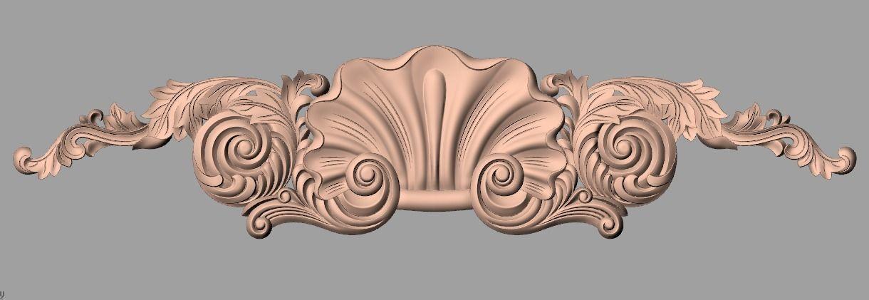 Door flower relief model stl format for cnc carving e459