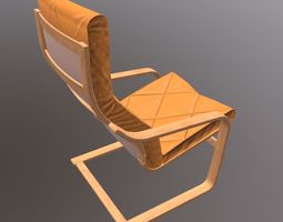 3D asset Soft Wooden Chair