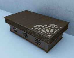Traditional Moroccan Table traditional 3D