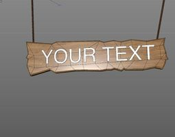 dynamic hanging text 3d