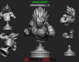 3D print model Vegeta Bust - dragonball Z