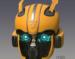 3D print model Bumblebee 2018 helmet human wearable