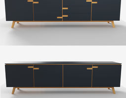 3D model style chest of drawers