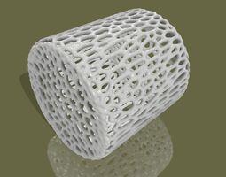 Voronoi style cylinder primitive for 3D printing