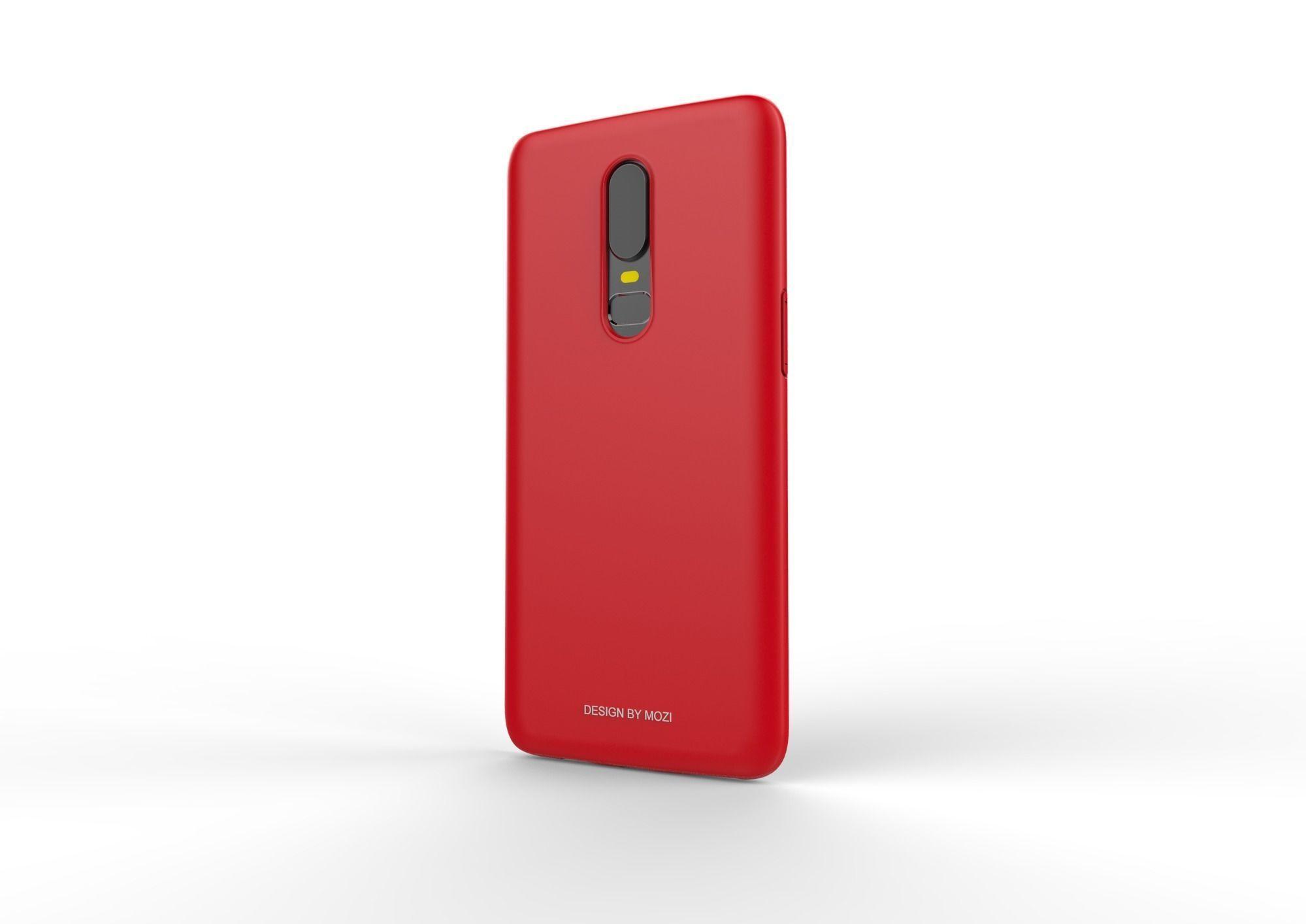 Oneplus 6 RED case design 3D print model