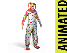 3D model animated Clown
