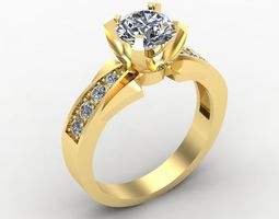 3D printable model Ring with Diamonds brilliant