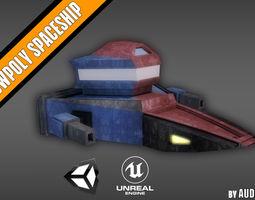 ULTRA LOWPOLY SPACESHIP 3D model