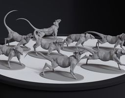 Alien Quadrupedal Concept 8 posed printable