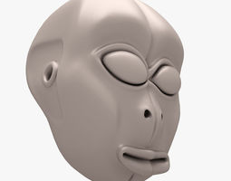 ALIEN HEAD 002 3D PRINT