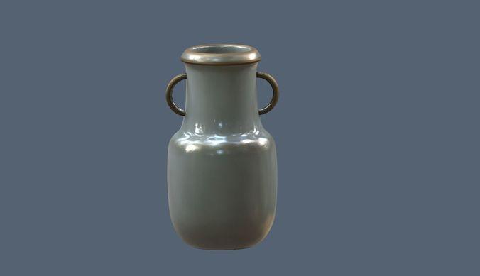 3d Asset Vr Ar Ready Old Metallic Vase Cgtrader