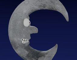 Cartoon Style Moon 3D model