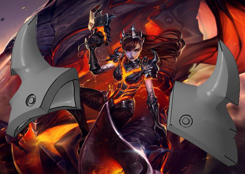 Overwatch DVa Cosplay - Destroyer Shoulder pads
