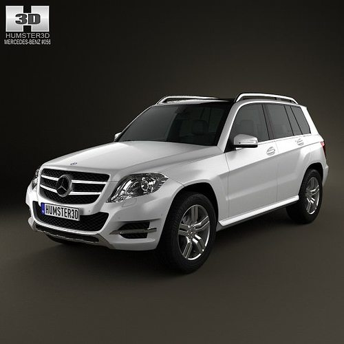 3d model mercedes benz glk class x204 2013 cgtrader for Mercedes benz suv models list