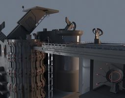 3D asset Sci-fi Kit Bash Elements