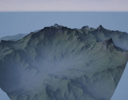 Small Mountain Valley 1 3D asset