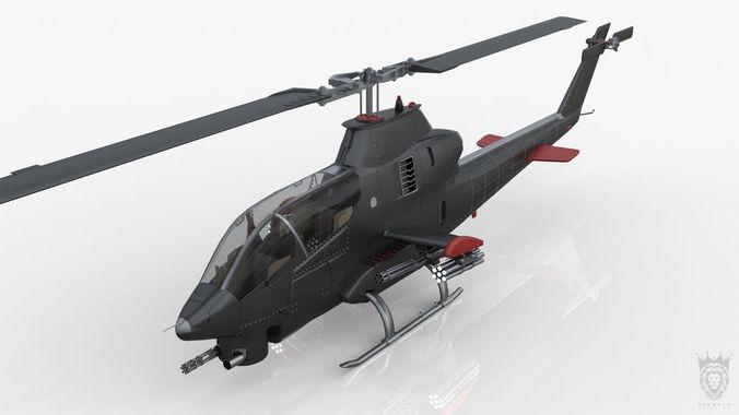 scorp helicopter 3d model max obj mtl 3ds fbx 1