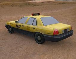 taxi cap 3D asset
