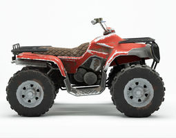 Lowpoly Dirty Quad Bike 3D asset