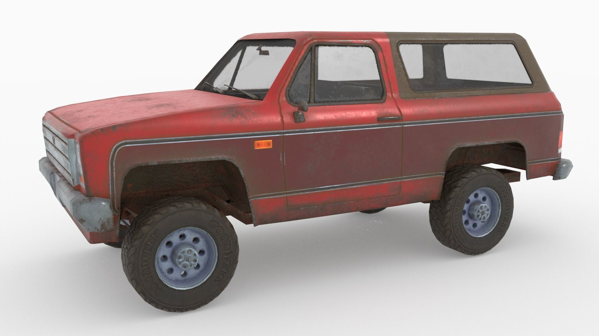 Low poly SUV pick up