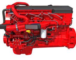 cylinder Truck Engine - 3D Models