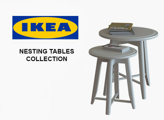 Ikea nesting tables collection 3d model cgtrader watchthetrailerfo