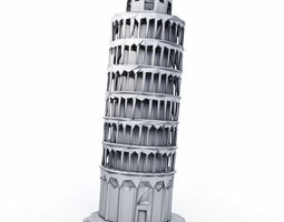 Leaning tower of Pisa Low Poly 3D asset