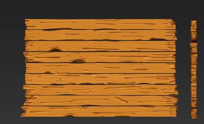 ZBRUSH WOOD PLANKS | 3D model