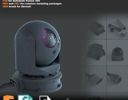 Hard-surface model pack - Fusion 360 - Zbrush - 3ds