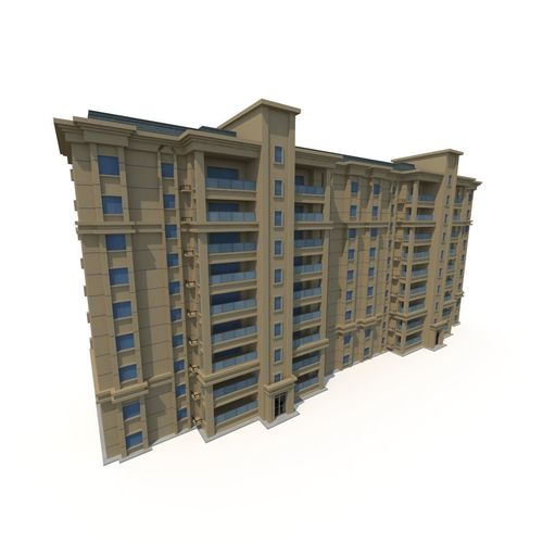 asian architecture residential building 01 3d model low-poly max obj mtl 3ds fbx ma mb tga 1