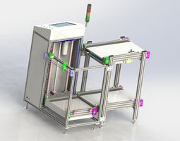 3D Double cent lifter of assembly line
