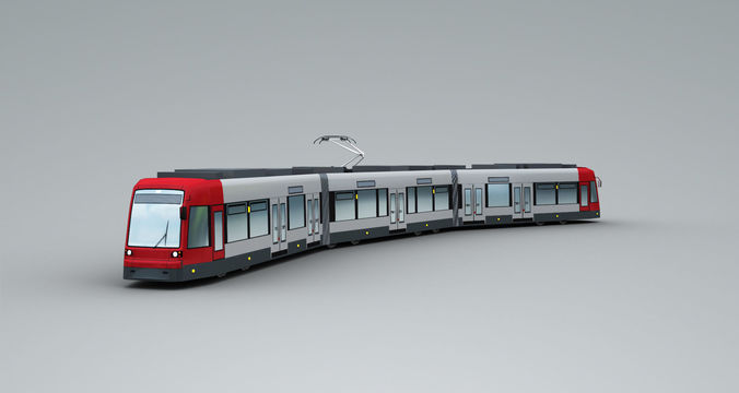 lowpoly tram 2 3d model max fbx tga 1