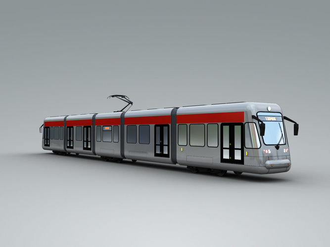 low poly tram 4 3d model max fbx tga 1