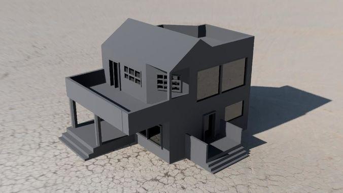 villa home 3d model stl 1
