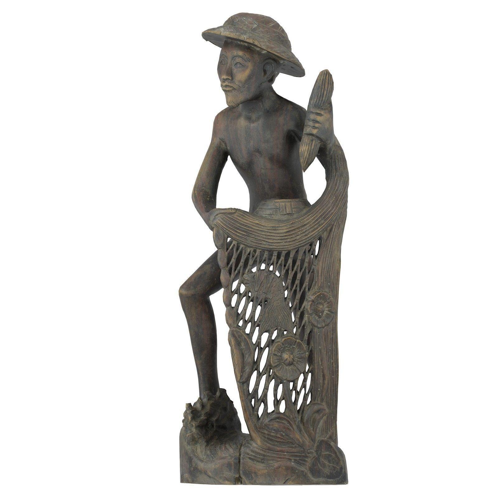 Fisherman Carving