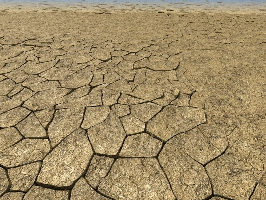 Cracked dry earth animated