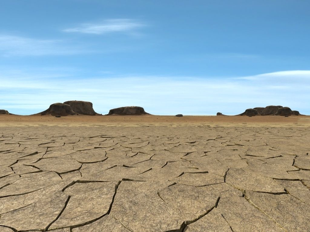 Cracked ground landscape images for Dry scape landscaping