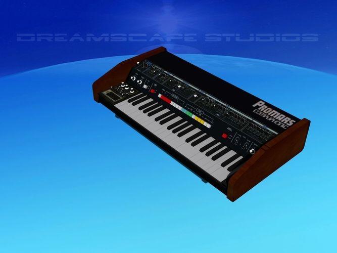 roland promars synthesizer 3d model max obj mtl 3ds lwo lw lws dxf stl 1